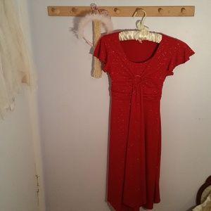 Speechless Size 8 Red Glitter Formal Long Dress